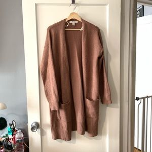 F21 Mauve Long Cardigan size L